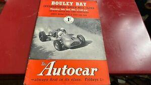 BOULEY BAY--INTERNATIONAL SPEED HILL CLIMB---PROGRAMME--23RD JULY 1953
