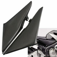 Black Carbon Fiber Tank Side Covers Panels Fairings For Honda CBR600RR 2003-2004