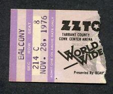ZZ-TOP Backstage Pass April 1977 Wings Stadium Kalamazoo Michigan with RUSH!!