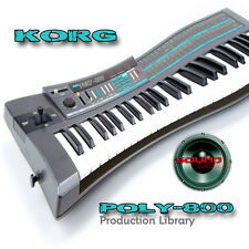 KORG POLY-800 THE very Best of - Large Original 24bit WAVE Samples Library on CD