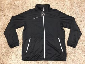 $65 Men's Nike Rivalry Dri Fit Lightweight Full Zip Basketball Jacket Black