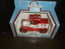 1986 ERTL 1918 FORD RUNABOUT TRACTOR SUPPLY 1/25 SCALE DIECAST METAL BANK SEALED