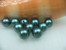 1 pcs 7MM AAA+ HALF DRILL BLACK AKOYA LOOSE PEARL - 1 pcs - ls4