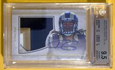 2015 Topps Definitive Todd Gurley RC Rookie Jersey Patch Auto #3/50🔥BGS 9.5/10