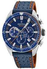 Festina Heren Chronograaf Blauwe Wijzerplaat Blauwe F20377/2 Horloge