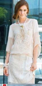 Elisa Cavaletti T-Shirt Bluse Tunika beige ELP195003708 Gr. M   Sommer