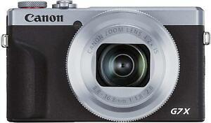 Canon PowerShot G7 X Mark III 20.1MP 4K Movies Compact Camera - Silver/Black