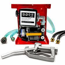 Fuel Transfer Pump Kit 13ft Hose Digital Meter Manual Nozzle 16gpm 110v