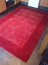HENLEY RED, 8' x 5', BRAND NEW,  LARGE, THICK,  WOOL, DELUXE RUG...FREE DELIVERY