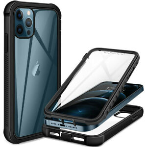 Full Body Clear Hybrid Shockproof 360 Case For iPhone 12 11 Pro Max 13 XR 8 7 SE