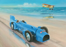 Malcolm Campbell Bluebird World Land Speed Record Car Art Print