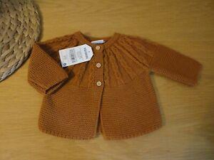 Next Baby Girls Cardigan Chunky Knit 100% Cotton 0 1 3 6 Months BNWT FREEPOST