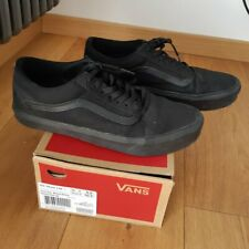 scarpe VANS OLD SKOOL NERE 42 uomo Lite + canvas totale black skate shoes 9