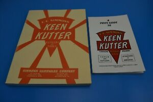 Keen Kutter / Simmons Hardware - Cutlery and Tools Price Guide Catalogues x 2