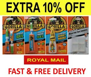 GORILLA GLUE PRODUCTS MULTI-PURPOSE SUPER GLUE AND GEL STRONG ADHESIVE