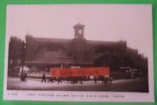 KINGSWAY RP Postcard c.1910 OUTSIDE G.N. RAILWAY STATION KINGS CROSS LONDON