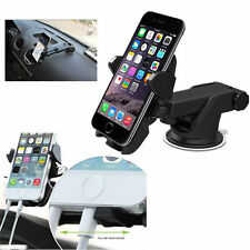 360° Rotating Car Windshield Mount Holder Stand Cradle F Samsung Galaxy S8 GPS for HTC One M7/m8/m9 Black