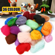 36 Colors Needle Felting Wool Fiber Roving Felt Starter Spinning DIY Craft Kit