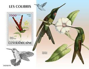 Central African Rep Birds Stamps 2021 MNH Hummingbirds Hummingbird 1v S/S