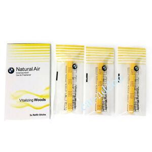 Genuine BMW Natural Air Car Air Freshener Vitalizing Woods 3x Sticks 83122463057