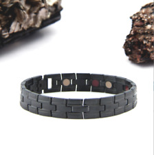 MEN'S Authentic Pur life Negative Ion Bracelet  TITANIUM ALL BLACK  PURELIFE