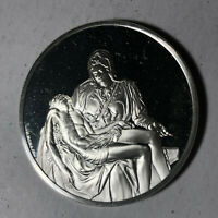 Pieta of St. Peter's, The Genius of Michelangelo 1.26oz Sterling Silver Medal