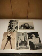 Marilyn Monroe movies cinema Postcards Lot Of 5