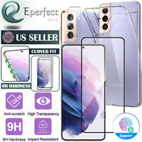 For Samsung Galaxy S21 Ultra Plus 5G Case Tempered Glass Screen Protector Camera