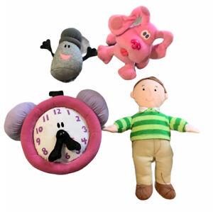 Blues Clues Plush Lot Steve Magenta Clock Pepper Eden Toys