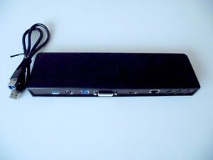 Docking Station Dell D3000 USB 3.0 + USB 3.0 Cable - No Power Supply