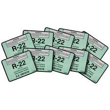 R-22 / R22 chlorodifluoromethane Refrigerant Label # 04022 , Pack of (10)