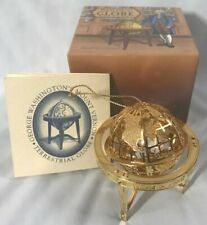 Rare! 2000 Mount Vernon 24k Gold Finish Ornament ~ Terrestrial Globe ~ In Box