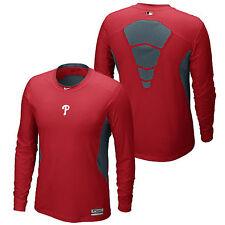 Nike da uomo Philadelphia Phillies Hypercool Performance Manica lunga shirt 2XL