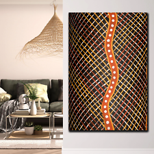 Snakeskin Aboriginal Art Canvas Prints for Wall Decor