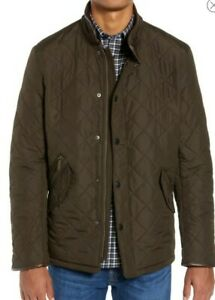 Barbour Men's Powell'  Quilted Jacket Olive Size M
