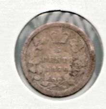 1870 Canada 5 Cents Victorian very good silver coin