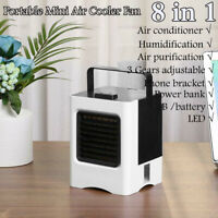 Mini Cooling Fan USB Battery Operated Portable Air Conditioner Cooler Car Desk