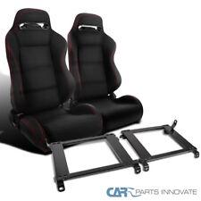 Fit 96-00 Honda Civic Racing Seats+Tensile Steel Mounting Brackets Rail Track