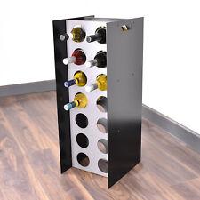 Floor Free Standing Wine Cabinet Steel Rack 14 Bottle Holder Storage - Black