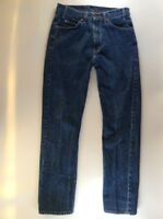 Mens Levis 505 Blue Jeans Regular Fit Straight Leg 33 x 34, Made In Guatemala