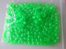 Pony Beads - 8x6mm Plastic Translucent - 200pcs - Green - NEW - AUS SELLER