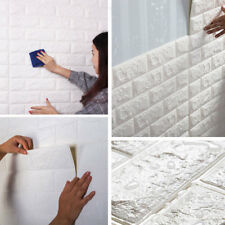 10x 3D Tapete Selbstklebend Steinoptik PE Wandpaneele Ziegelstein Wandaufkleber