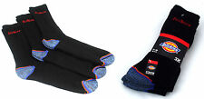 Dickies Strong Work Socks 3 Pairs Size UK 6 - 11 Cushioned Cotton Dck-00009