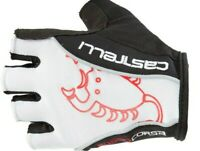 Castelli Rosso Corsa Men's Padded Summer Cycling Gloves White ⚡⚡All Sizes ⚡⚡