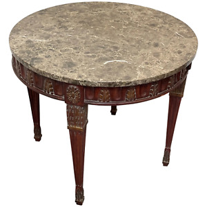 Fine French Regency Style Round Marble Top Centre Table