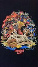 Vtg 2003 Disney land July Event Pirates Caribbean Curse Black Pearl T Shirt XXL