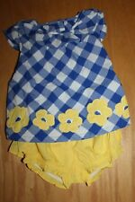 Nwt Gymboree Baby Girl Blue size 18-24 Months Blue Yellow Flower Shorts Set Top