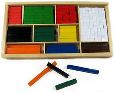 *NEW IN BOX* Wooden Cuisenaire Rods 308 Pieces Maths Aid