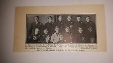 Technical High School Cleveland Ohio 1910 Football Team Picture RARE!