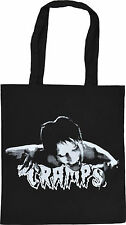 THE CRAMPS BLACK COTTON TOTE BAG LUX INTERIOR PSYCHOBILLY PUNK HORROR B-MOVIE